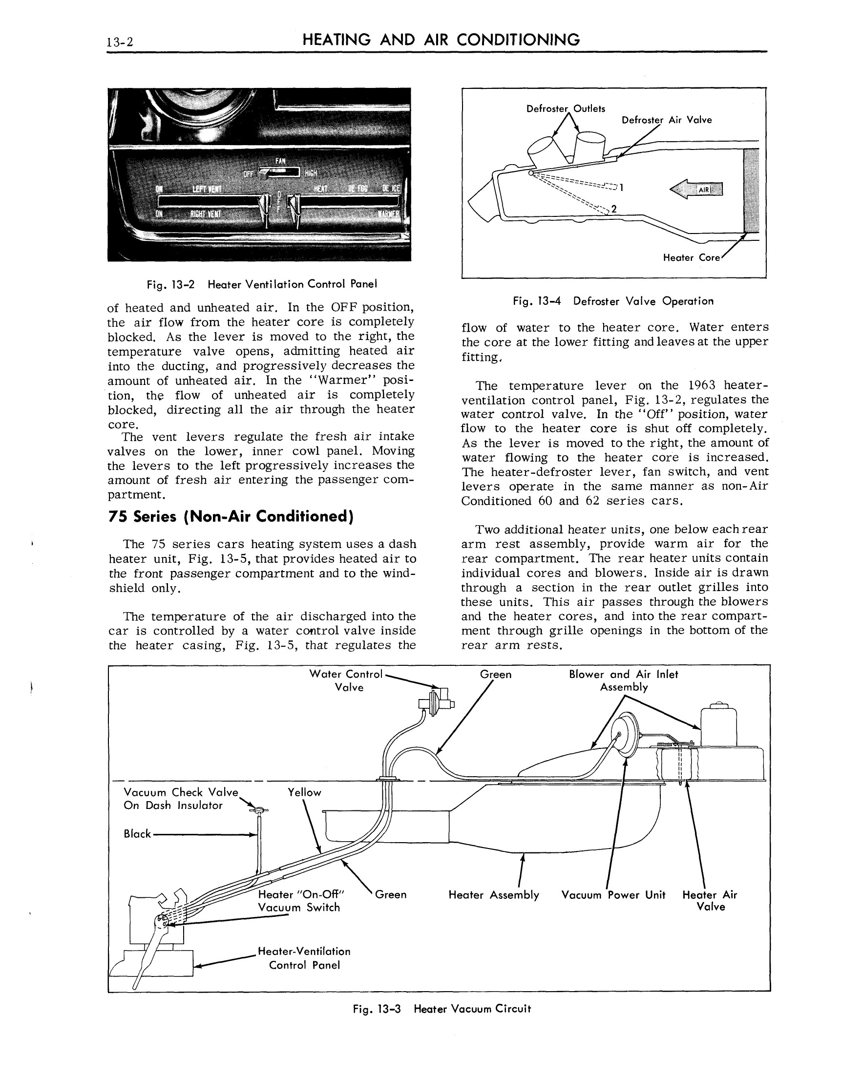 1963 Cadillac Shop Manual- Heat and AC Page 2 of 68