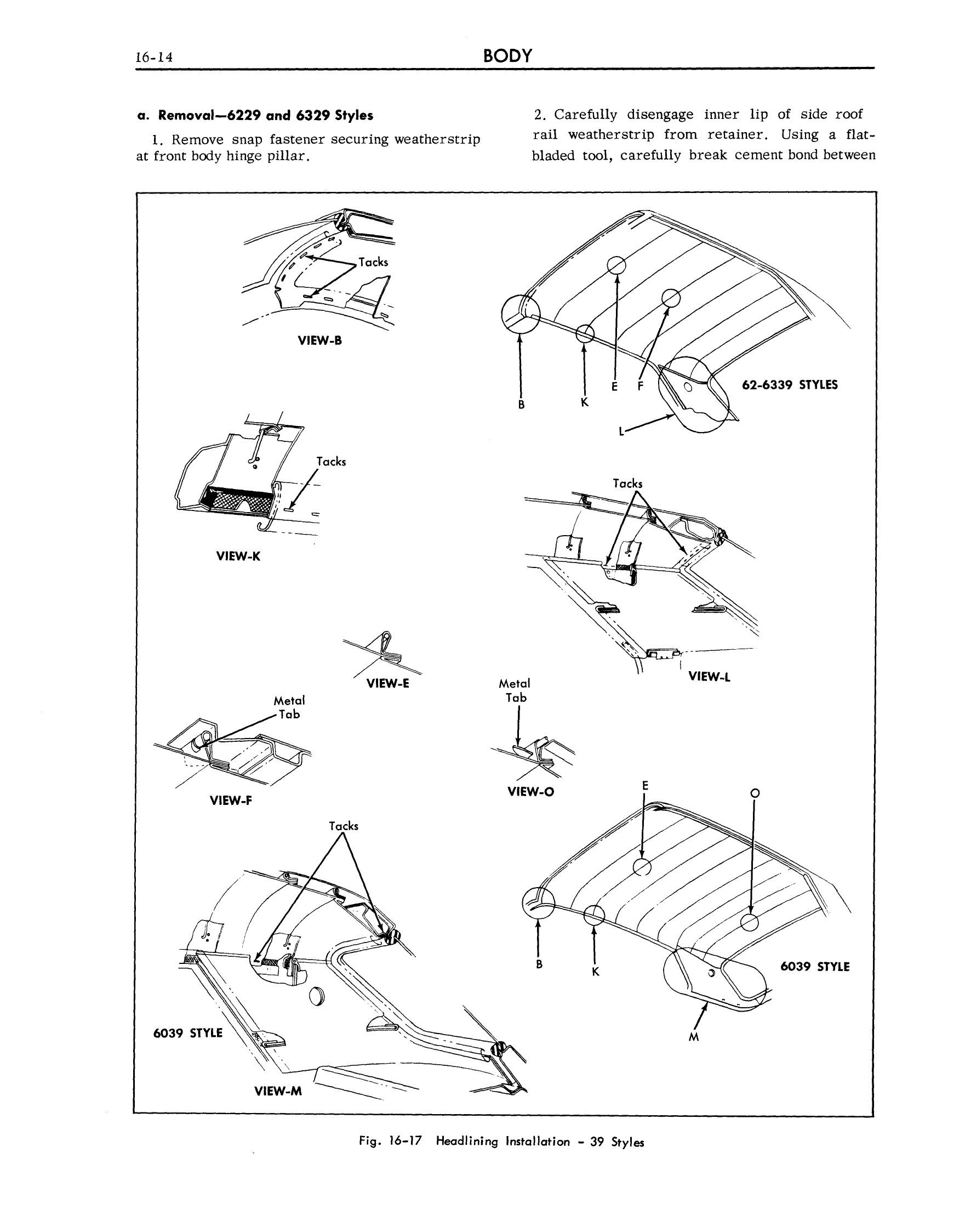 1963 Cadillac Shop Manual- Body Page 14 of 124
