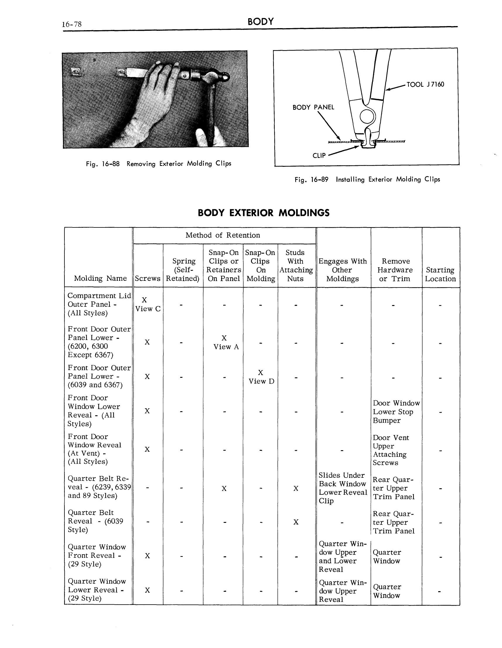 1963 Cadillac Shop Manual- Body Page 78 of 124