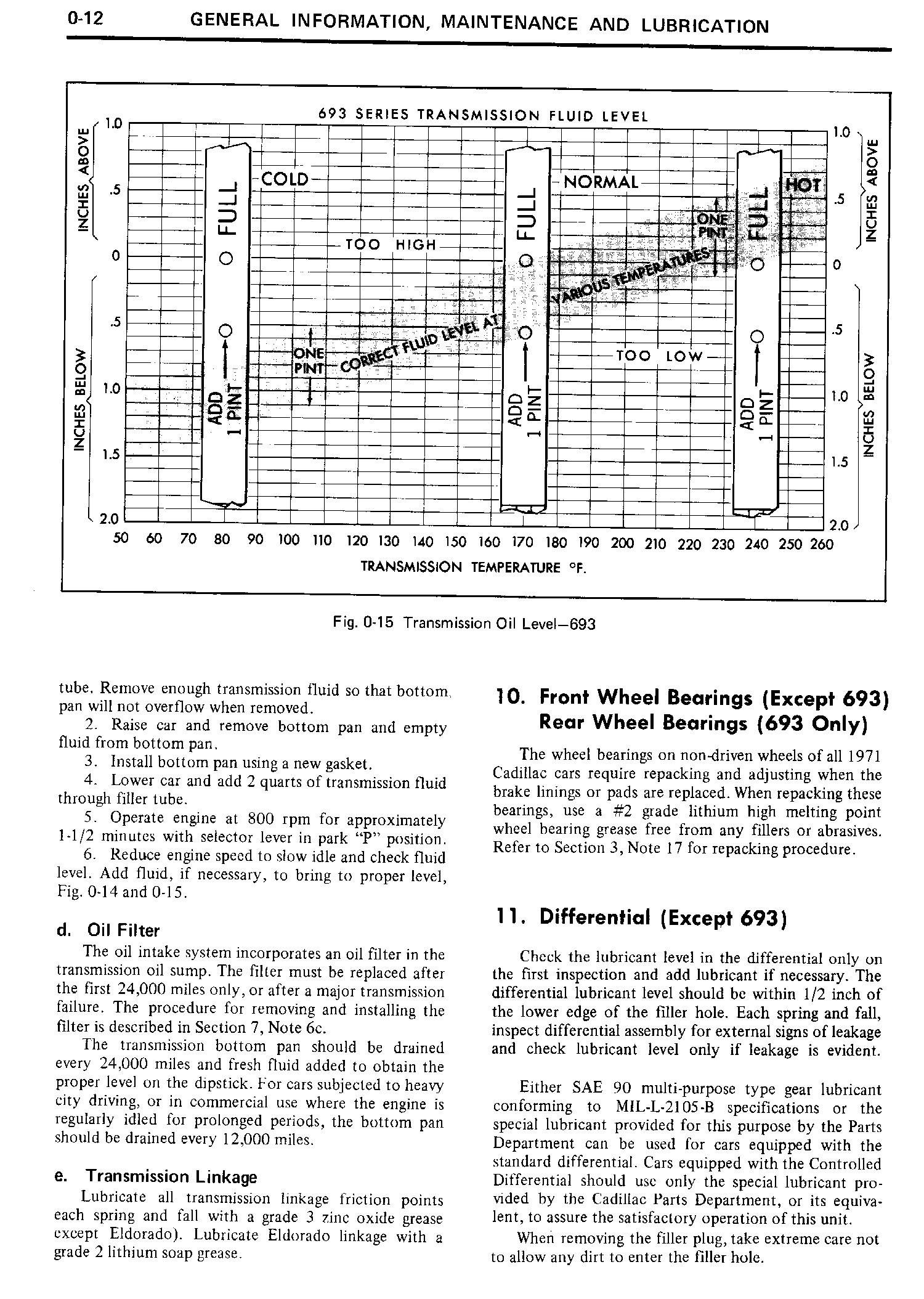 1971 Cadillac Shop Manual- General Information Page 13 of 22