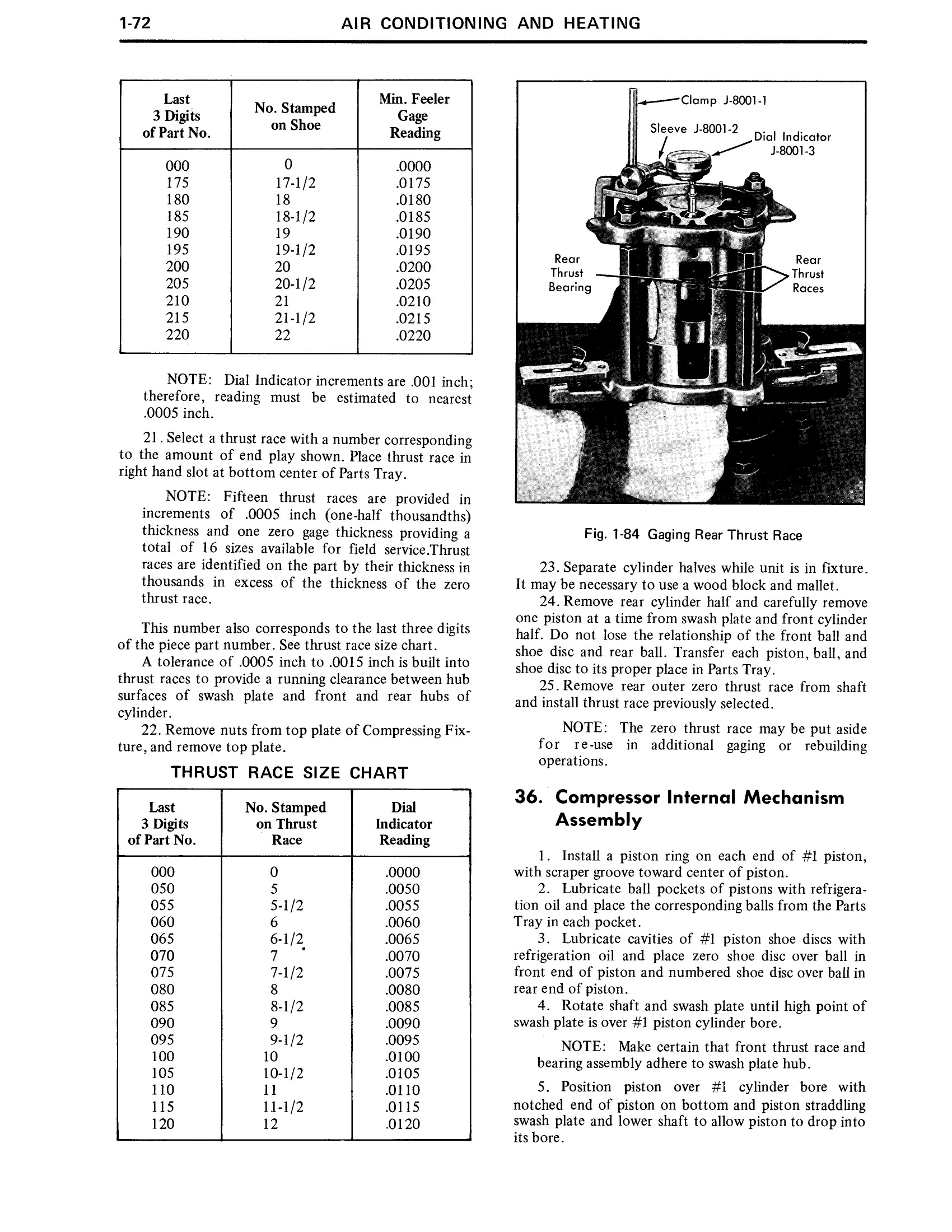 1971 Cadillac Shop Manual- AC and Heating Page 72 of 106
