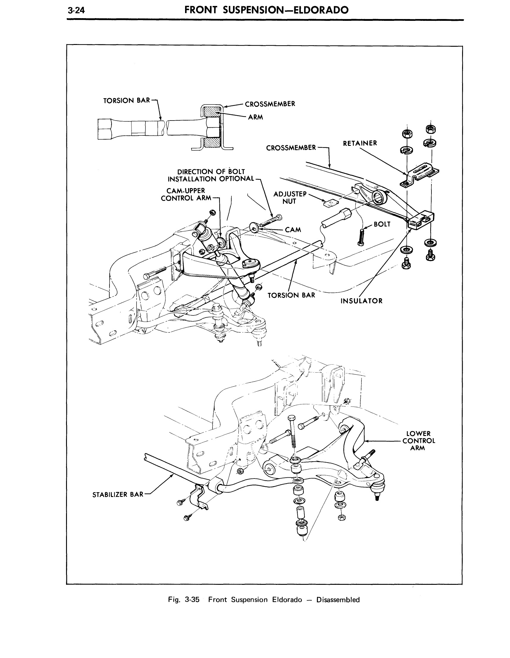1971 Cadillac Shop Manual- Front Suspension Page 24 of 56