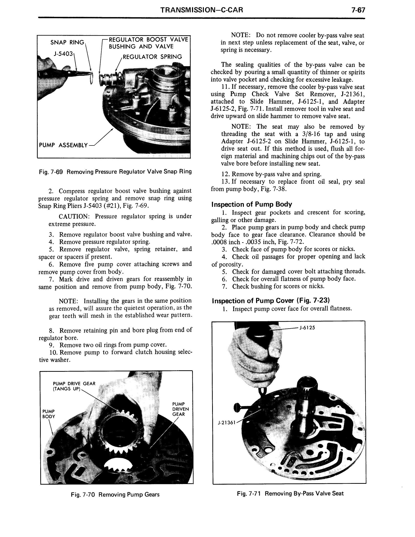 1971 Cadillac Shop Manual- Transmission Page 67 of 156