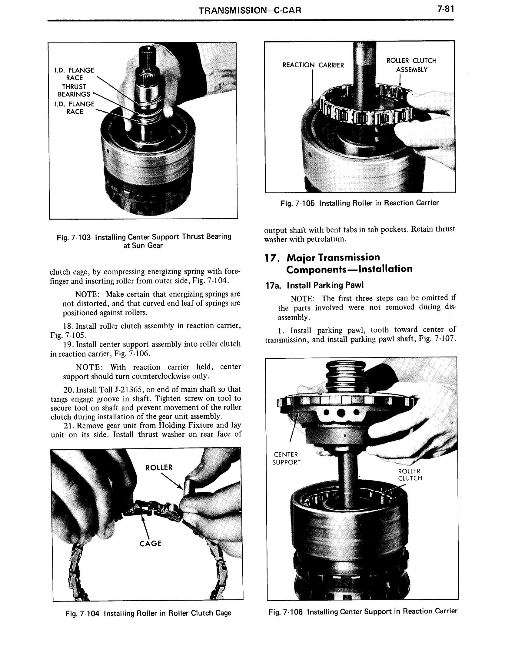 1971 Cadillac Shop Manual- Transmission Page 81 of 156