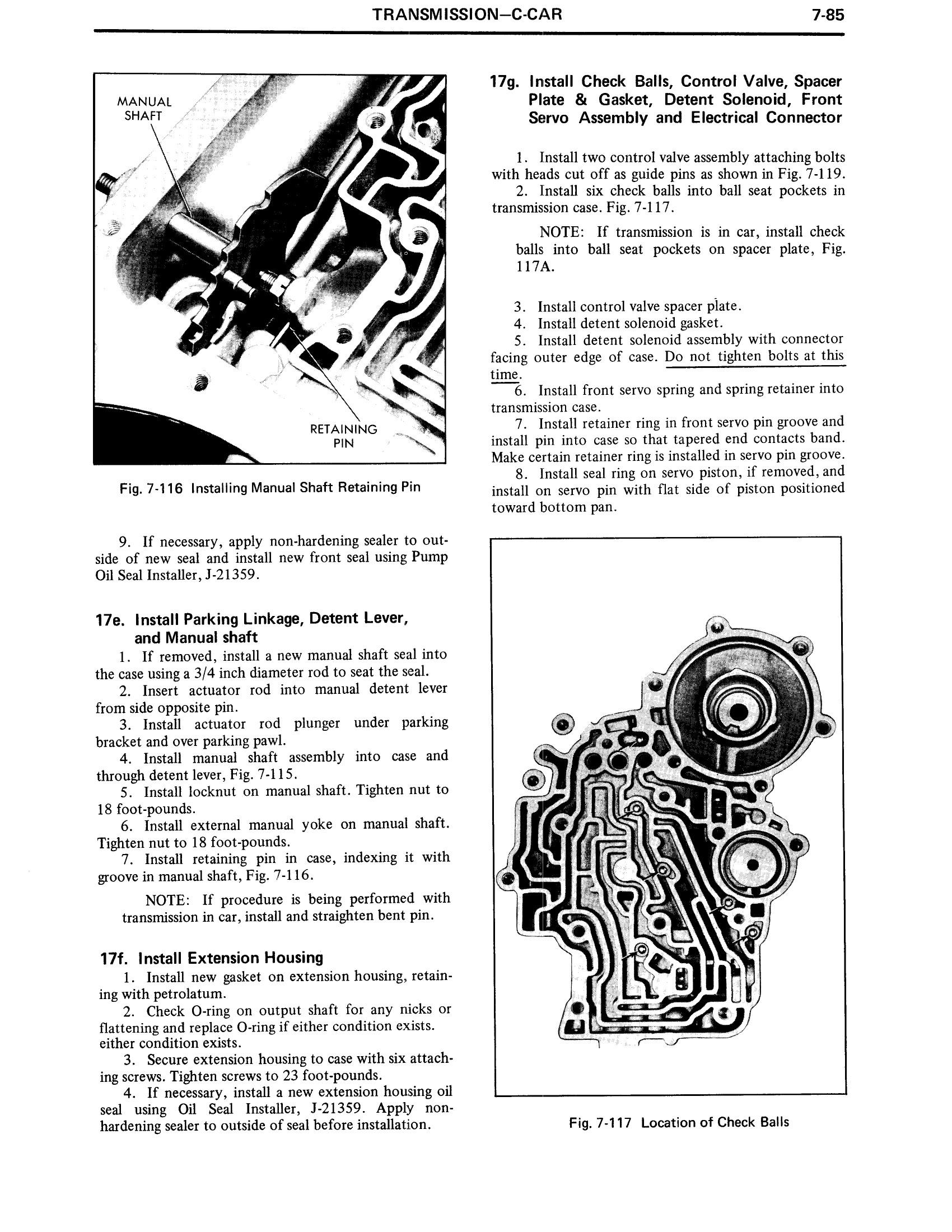1971 Cadillac Shop Manual- Transmission Page 85 of 156