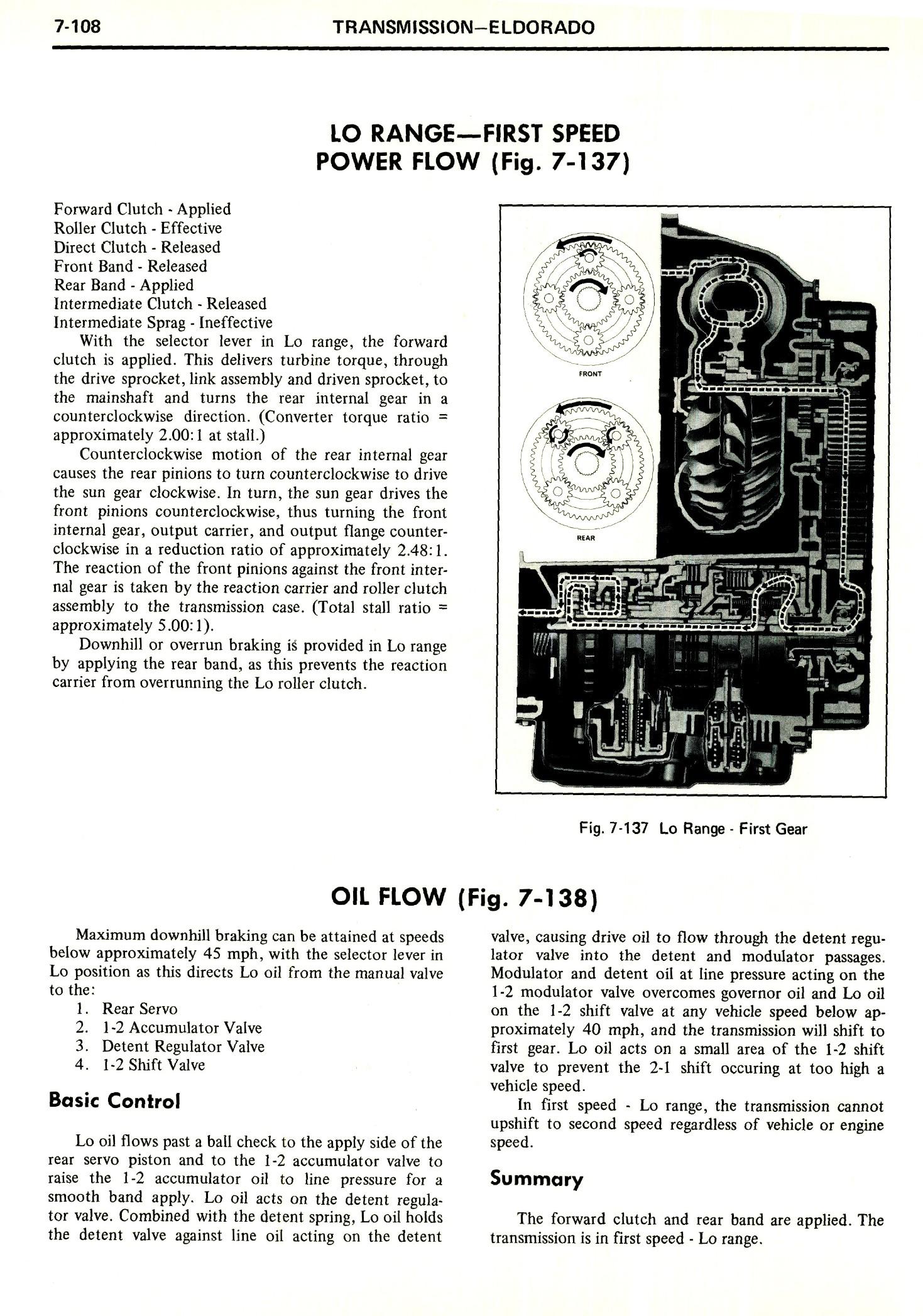 1971 Cadillac Shop Manual- Transmission Page 108 of 156