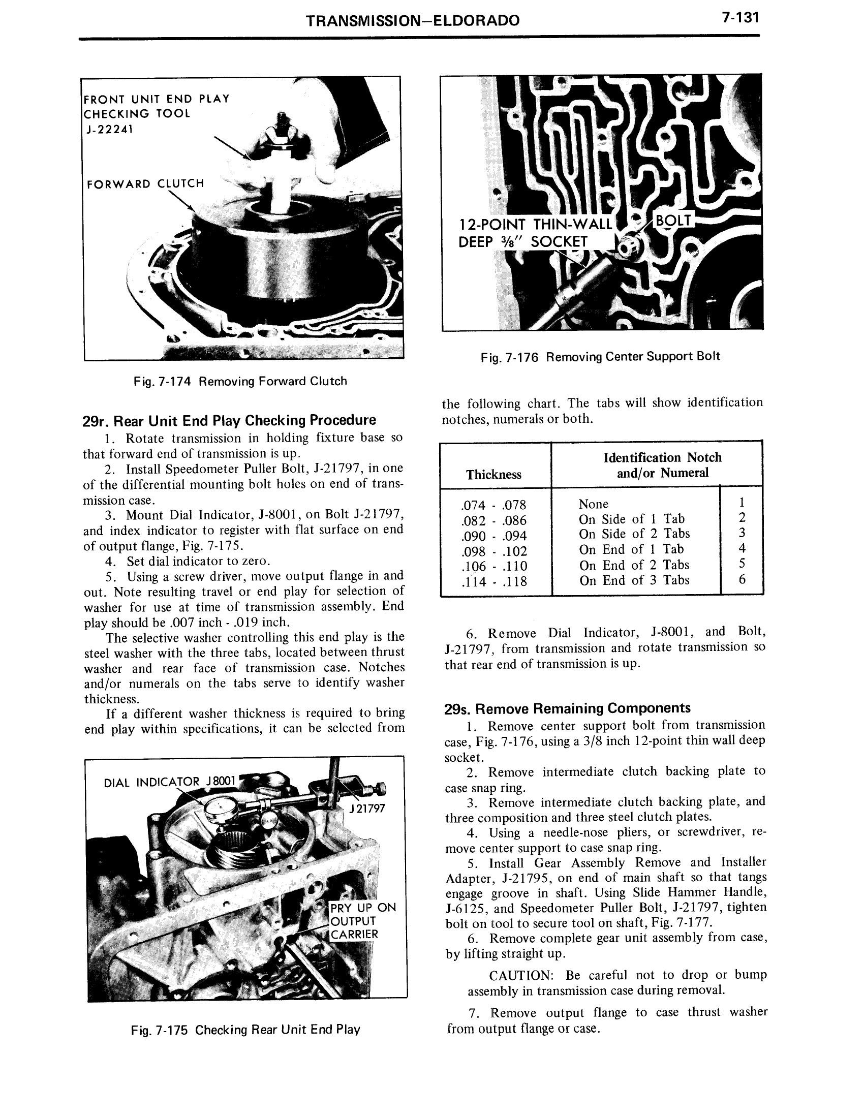 1971 Cadillac Shop Manual- Transmission Page 131 of 156