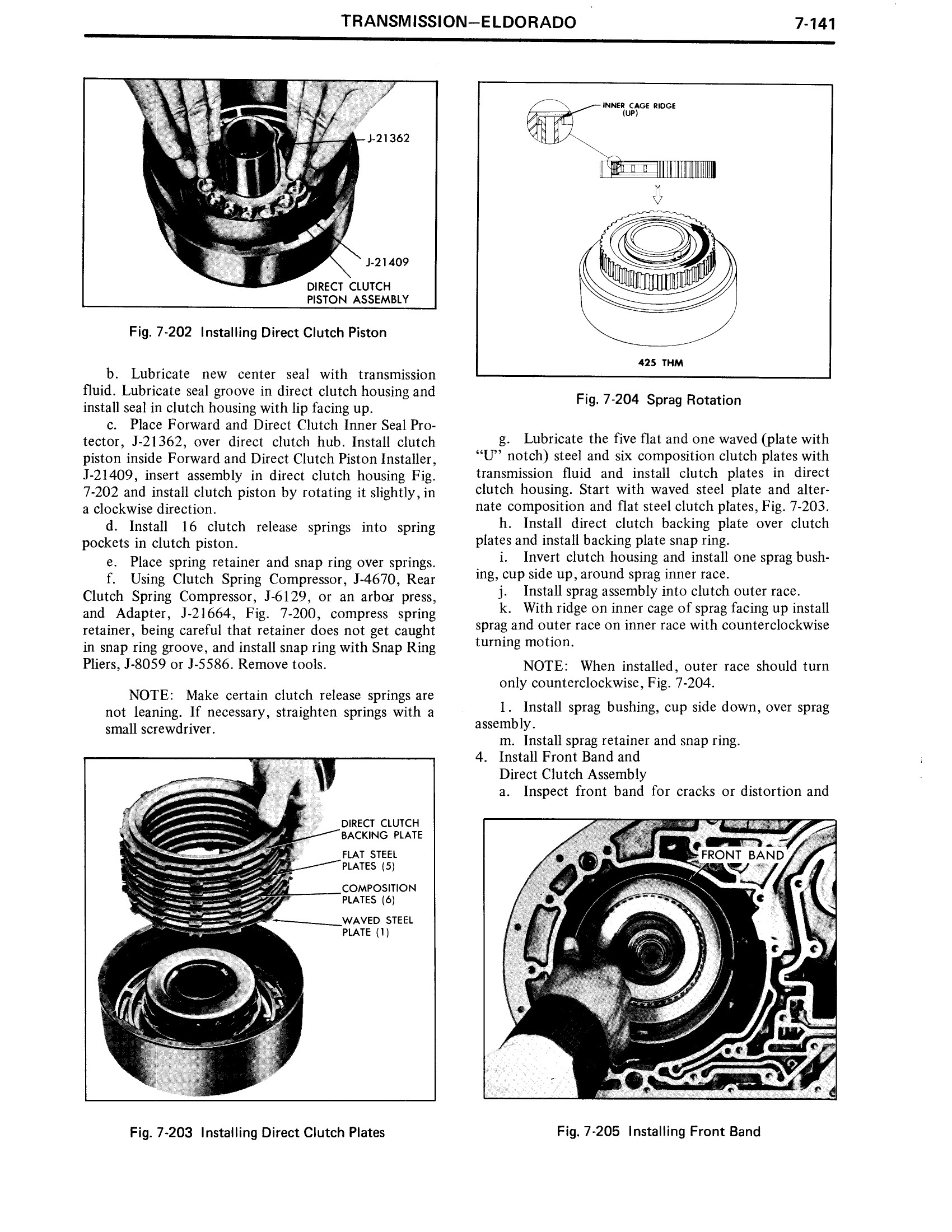 1971 Cadillac Shop Manual- Transmission Page 141 of 156