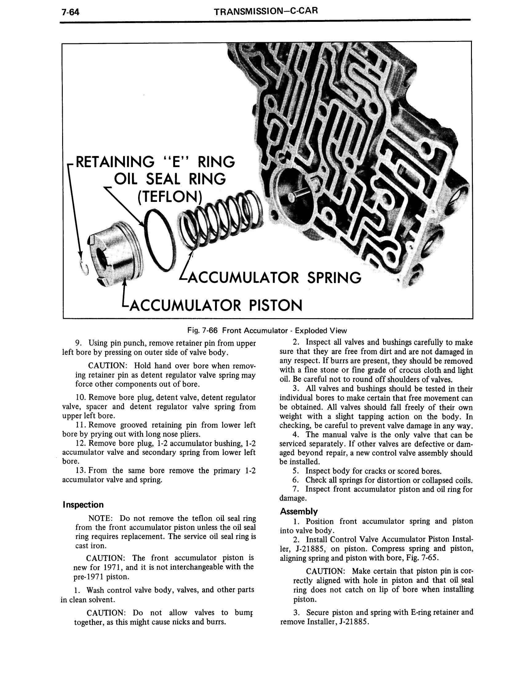 1971 Cadillac Shop Manual- Transmission Page 64 of 156