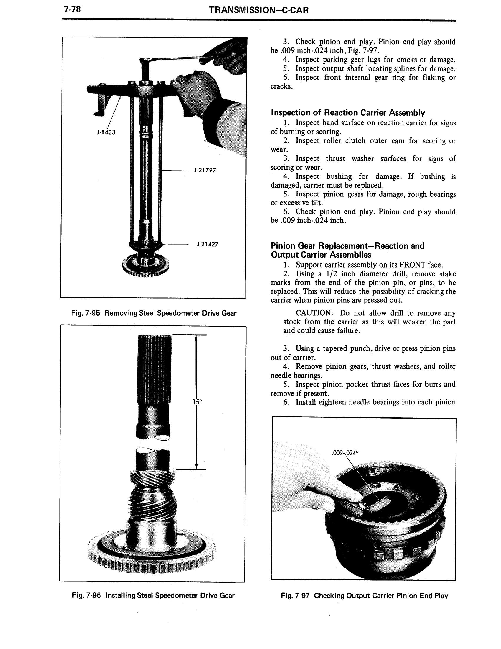 1971 Cadillac Shop Manual- Transmission Page 78 of 156