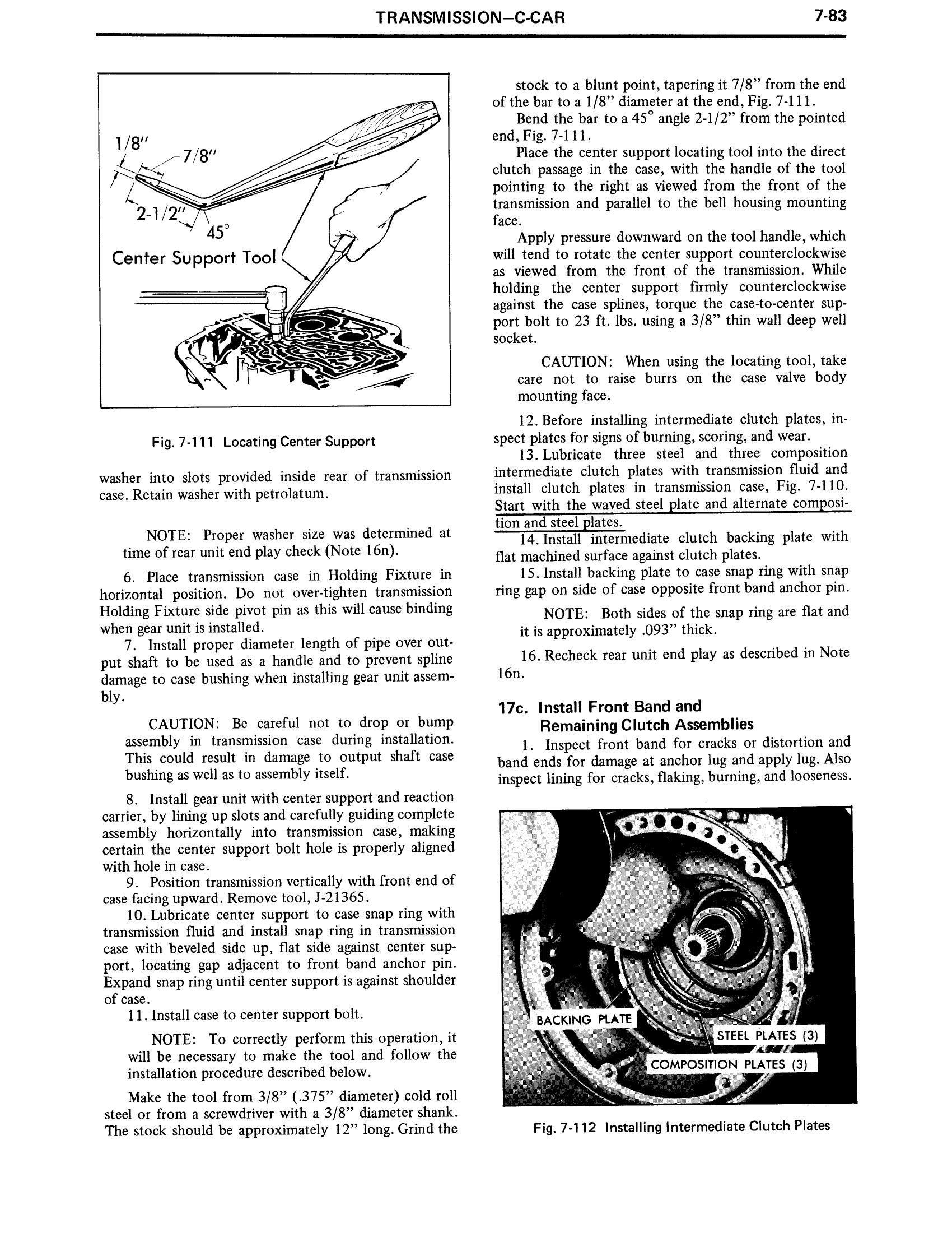 1971 Cadillac Shop Manual- Transmission Page 83 of 156