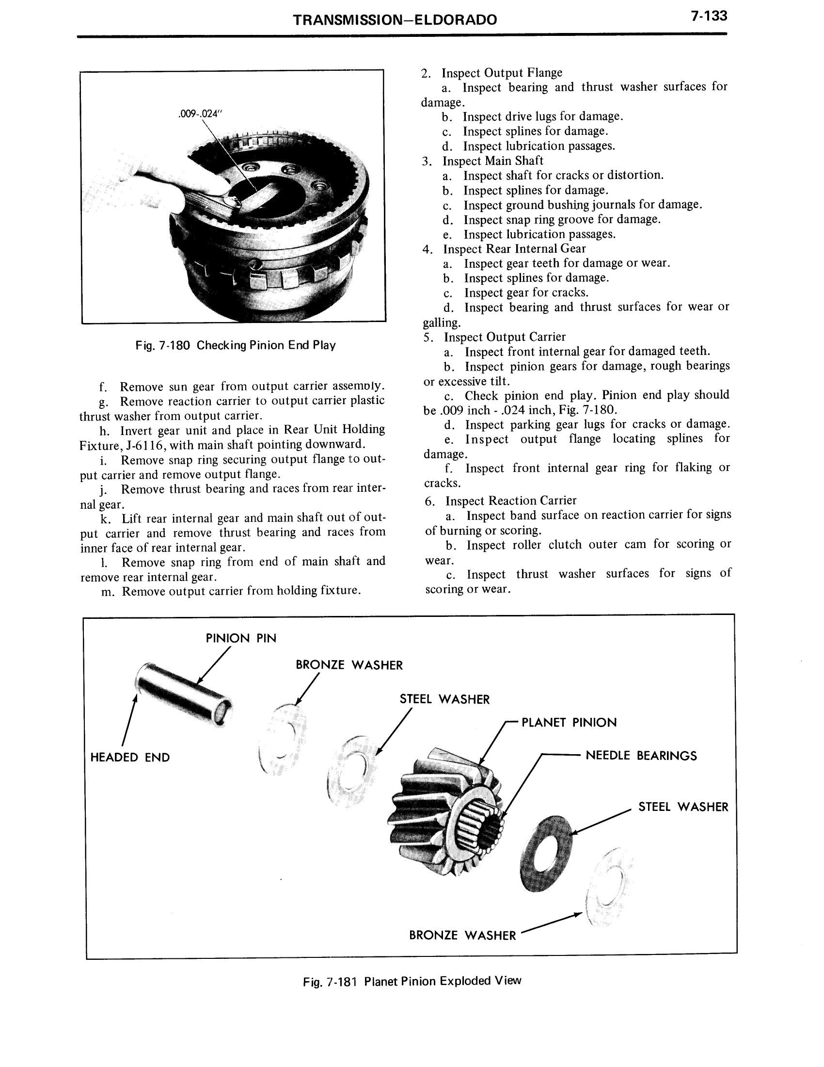 1971 Cadillac Shop Manual- Transmission Page 133 of 156