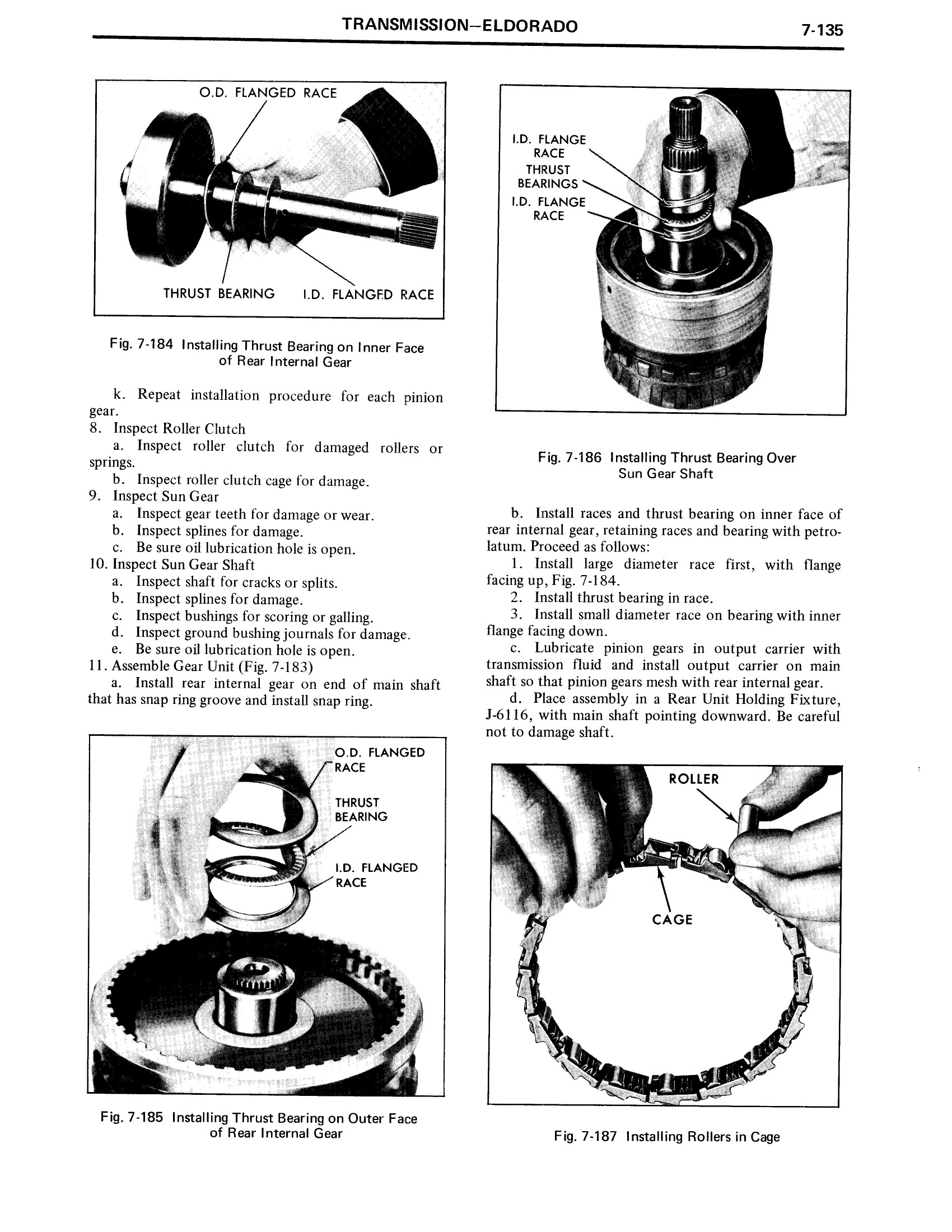 1971 Cadillac Shop Manual- Transmission Page 135 of 156