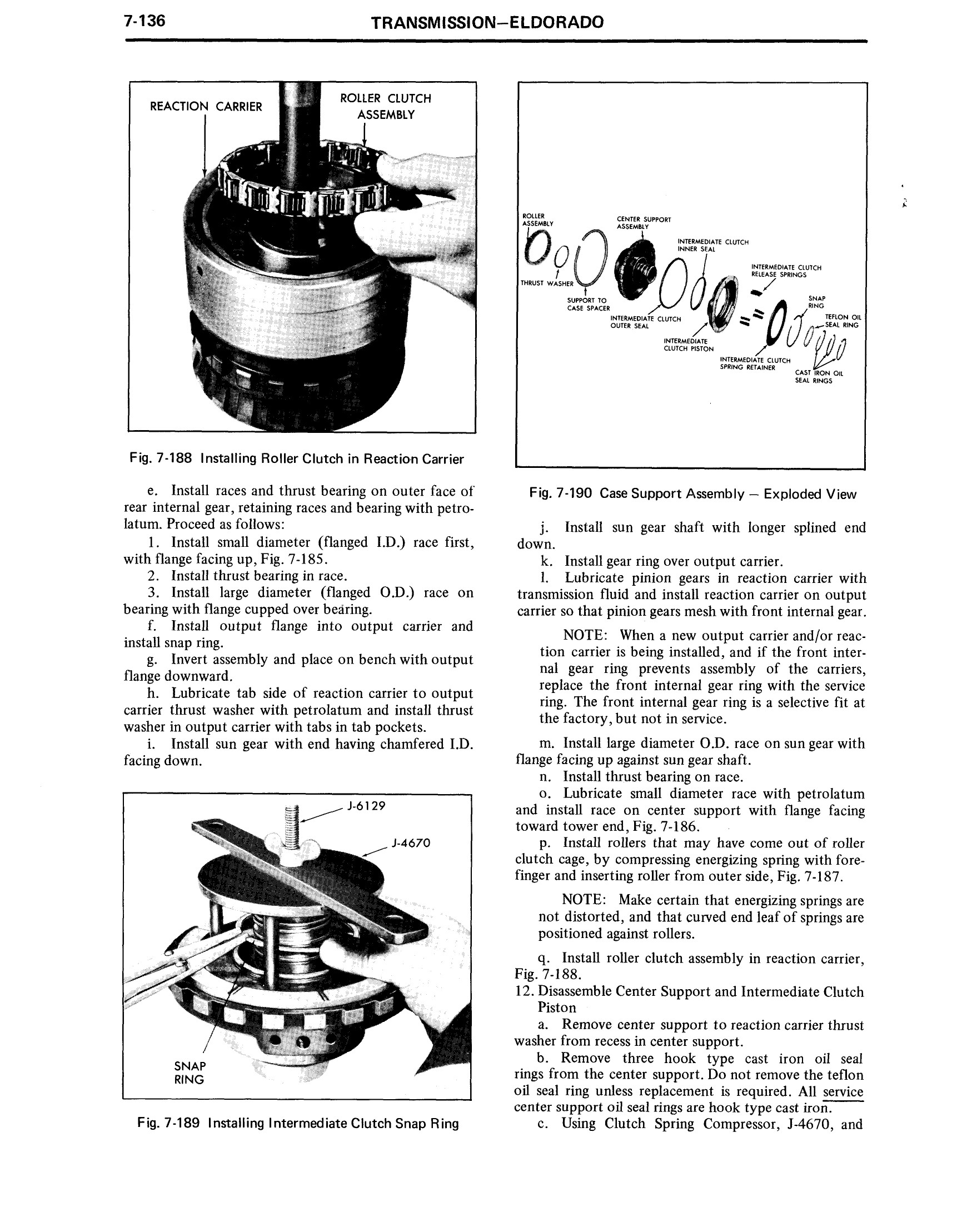 1971 Cadillac Shop Manual- Transmission Page 136 of 156