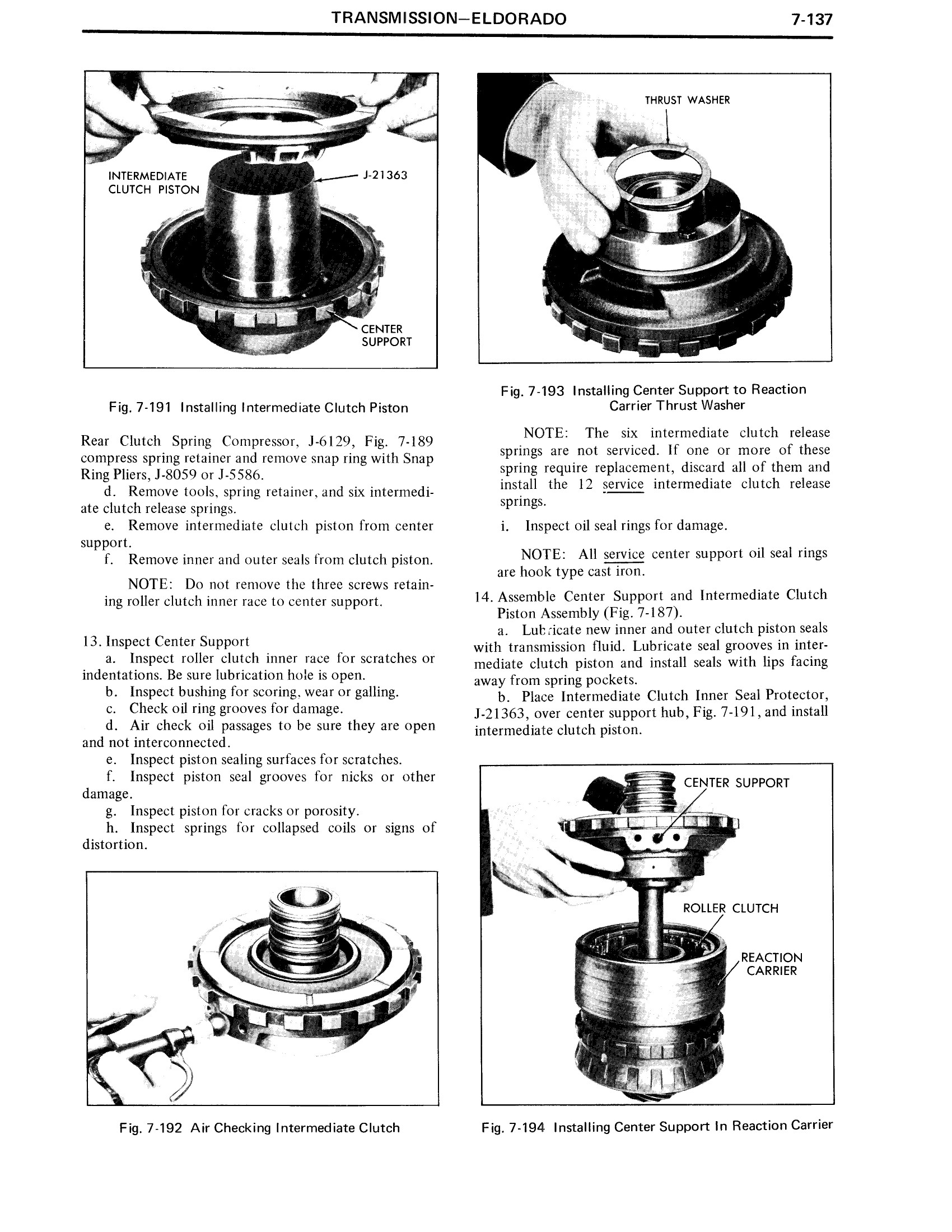 1971 Cadillac Shop Manual- Transmission Page 137 of 156