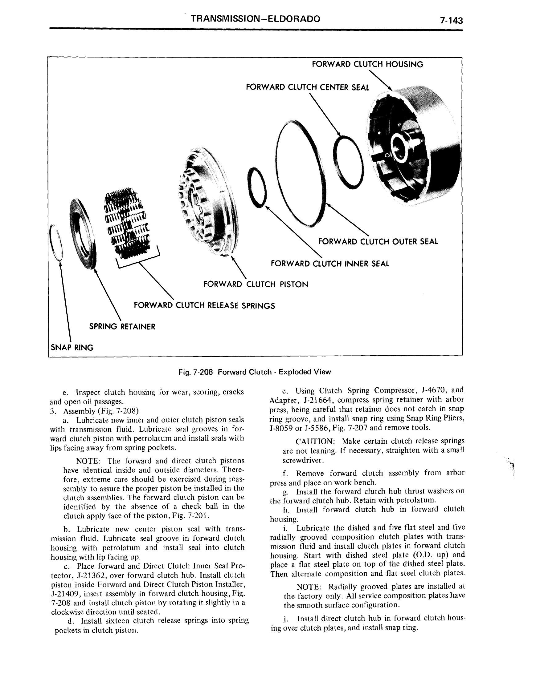 1971 Cadillac Shop Manual- Transmission Page 143 of 156