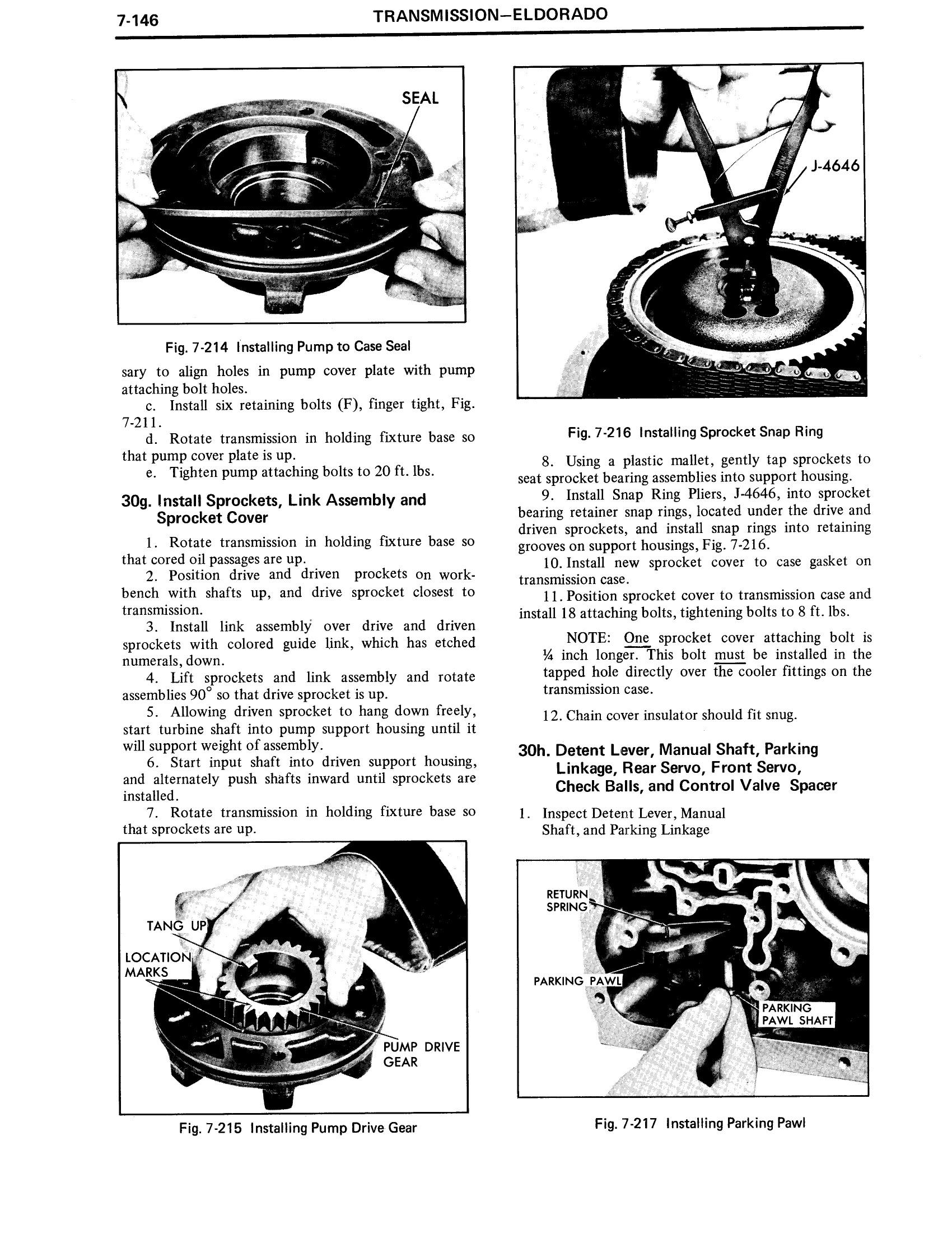 1971 Cadillac Shop Manual- Transmission Page 146 of 156