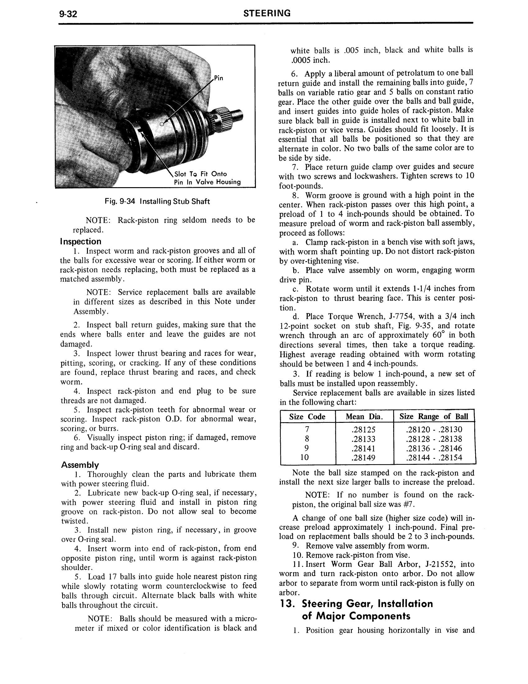 1971 Cadillac Shop Manual- Steering Page 32 of 58