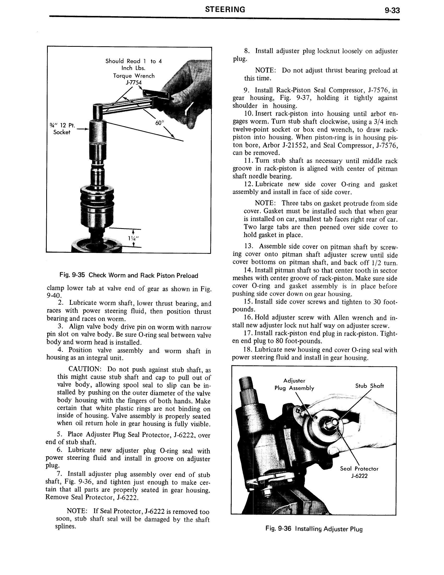 1971 Cadillac Shop Manual- Steering Page 33 of 58