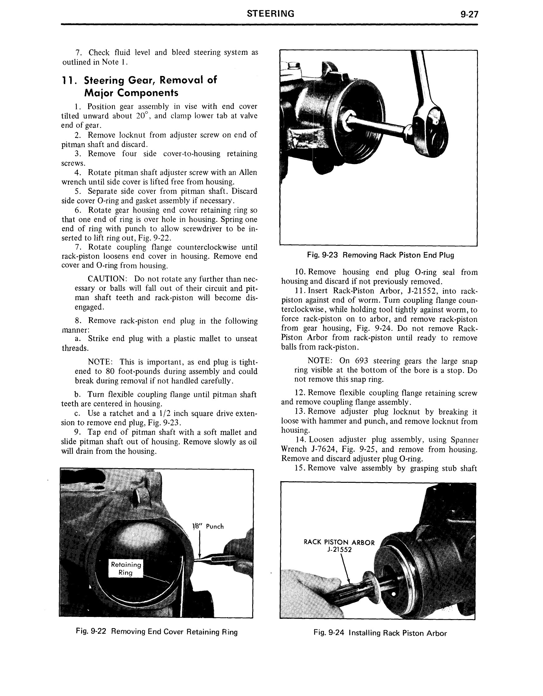 1971 Cadillac Shop Manual- Steering Page 27 of 58
