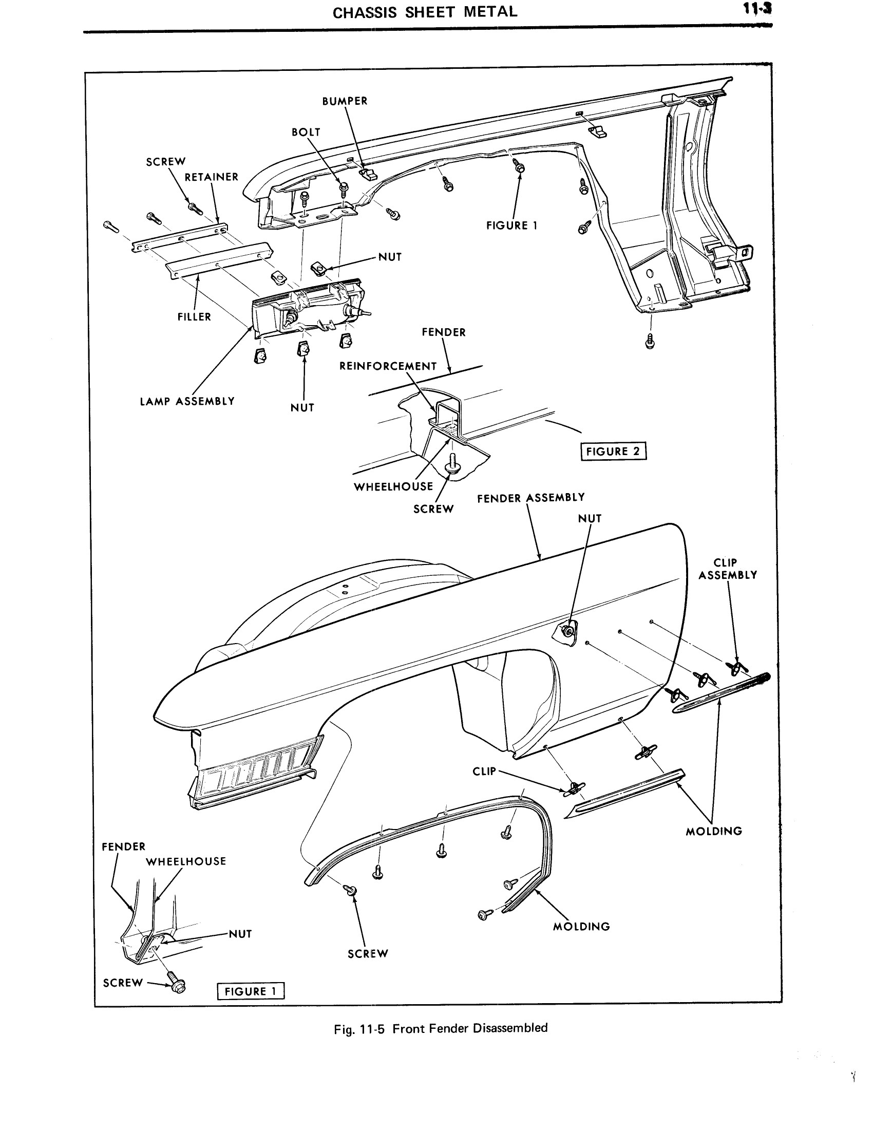 1971 Cadillac Shop Manual- Chassis Sheet Metal Page 3 of 12