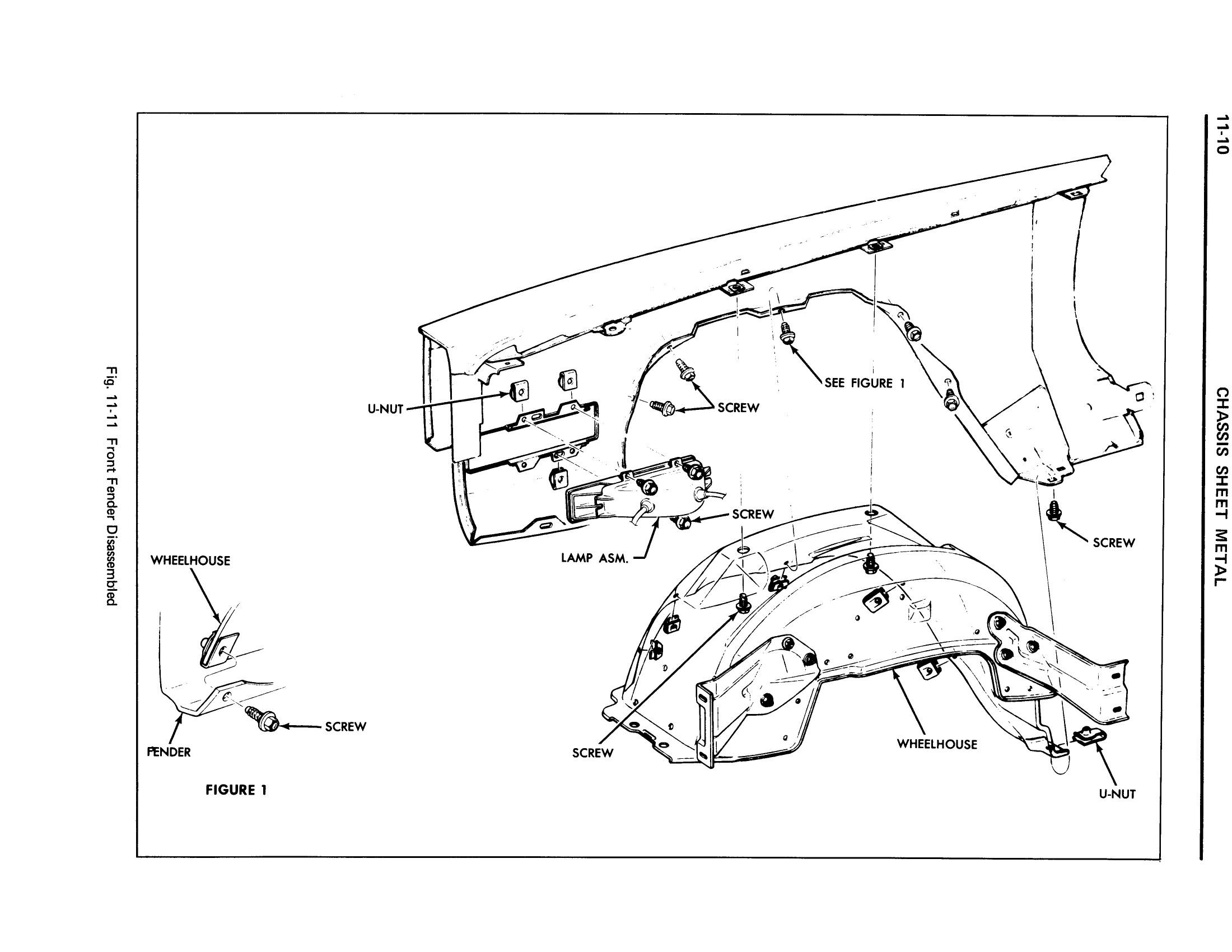 1971 Cadillac Shop Manual- Chassis Sheet Metal Page 10 of 12