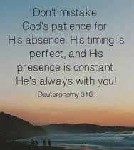 God's timing and patience