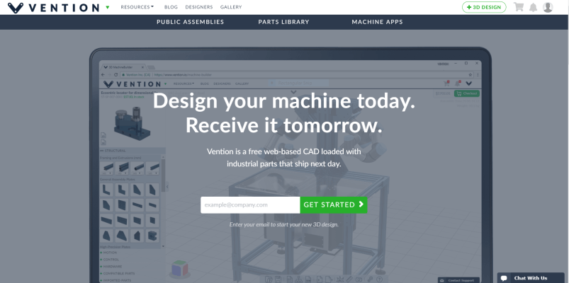 Vention io – A New Cloud-Based CAD Assembly Software You Should