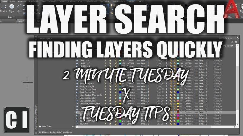 autocad layer search