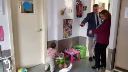 Miguel Andréu visita la Escuela Infantil Virgen del Rosario