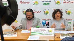 Carmen Álvarez, junto a Fernando Macías en una rueda de prensa reciente