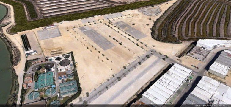 Vista aérea del Recinto ferial de Chiclana