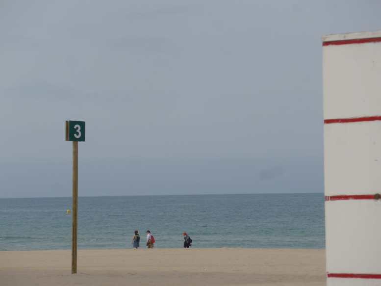 Señalización de tramo en la playa Victoria (Foto: Eulogio García)