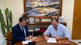 Pedro Gallardo, por Asaja Cádiz, y José Luis García-Palacios Álvarez, por Fundación Caja Rural del Sur