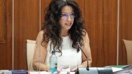 La consejera de Igualdad, Políticas Sociales y Conciliación, Rocío Ruiz, en la Comisión de su competencia