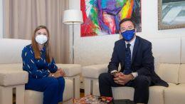 Irene Garcia con Ricardo Dominguez