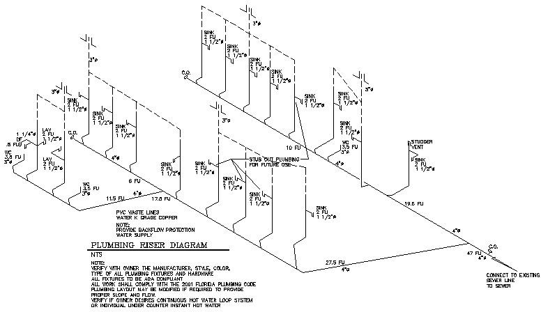 Diagram Sample House Plumbing Plan Vent Riser Diagram