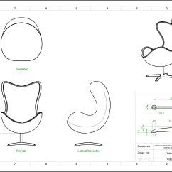 Office Chair Elevation Cad Block Blue Round Jacobsen Egg Blueprint Surfer Blog