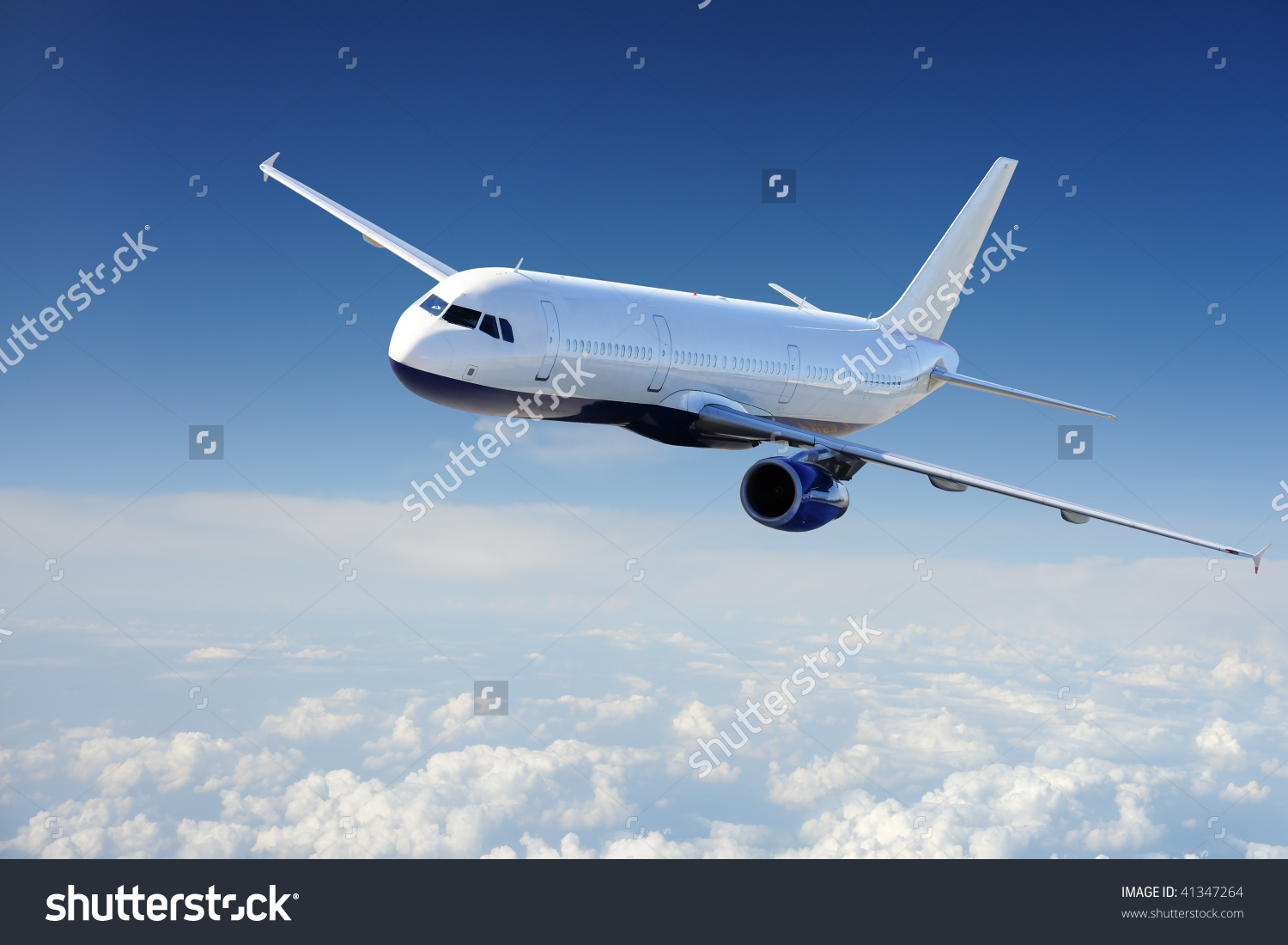 stock photo airplane in