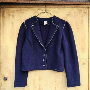 giacca vintage Hundt in lana, vista frontale