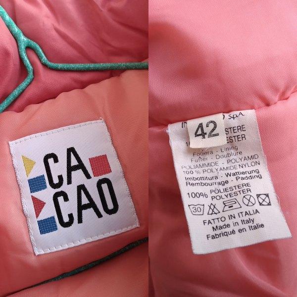 dettaglio etichette di giacca da neve Cacao anni'90