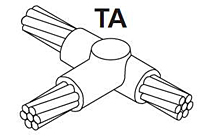 Item # TAC-1V1V, Parallel Horizontal TEE Connection Molds