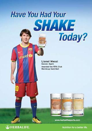 Messi Herbalife : messi, herbalife, Lionel, Messi, Nutrition