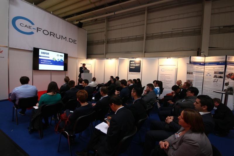 Vorträge von Unternehmen auf dem CAE-Forum Gemeinschaftsstand in der Leitmesse Digital Factory