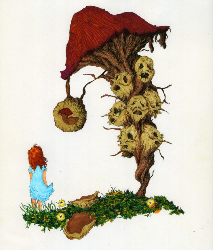 Study of a Girl and a Mushroom
