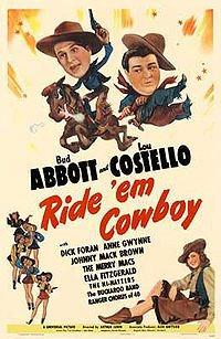 Abbott and Costello Ride Em Cowboy