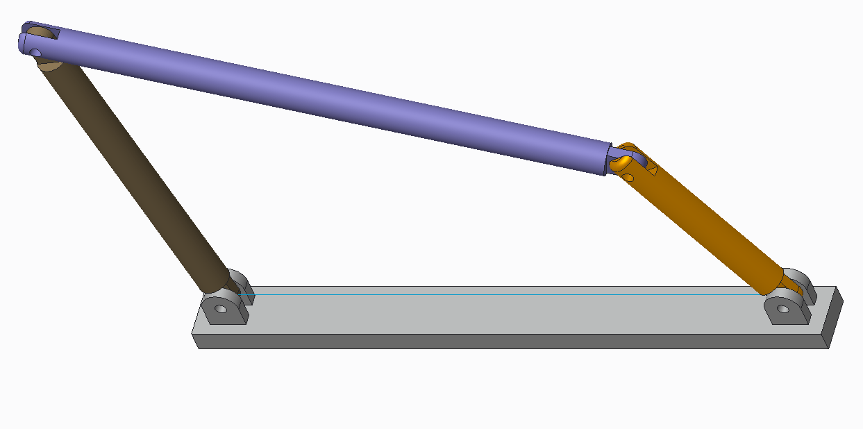 Four bar mechanism by using Motion Skeleton