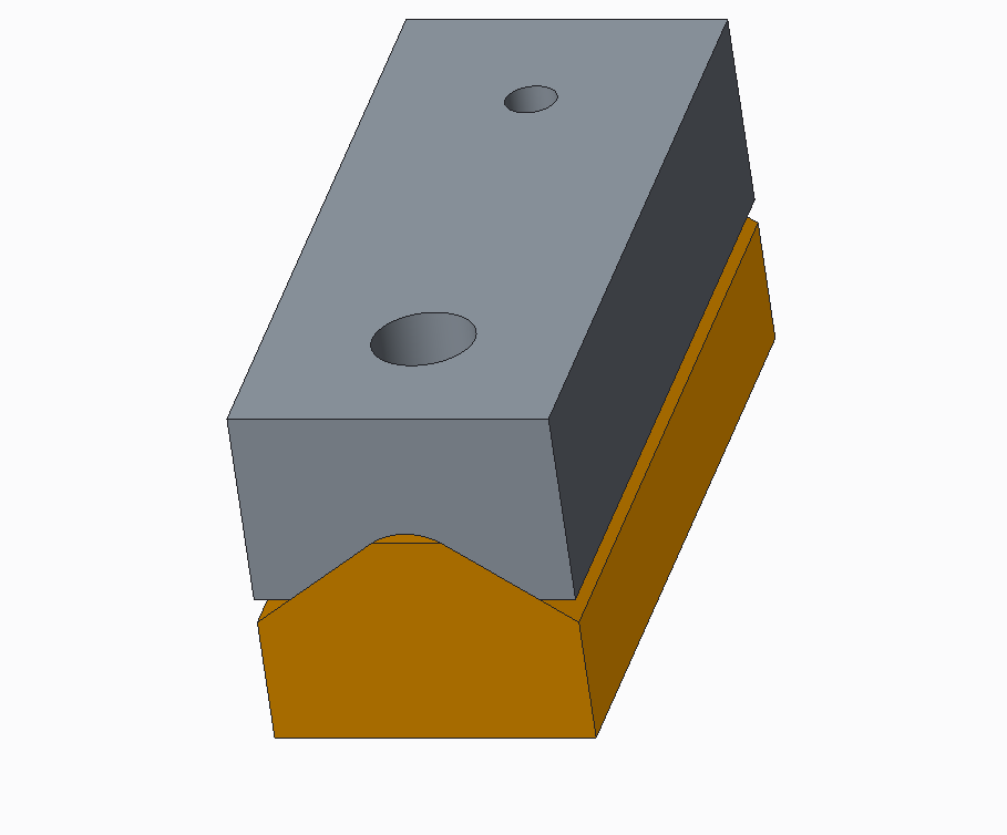 Assembly of mating parts built using top down design