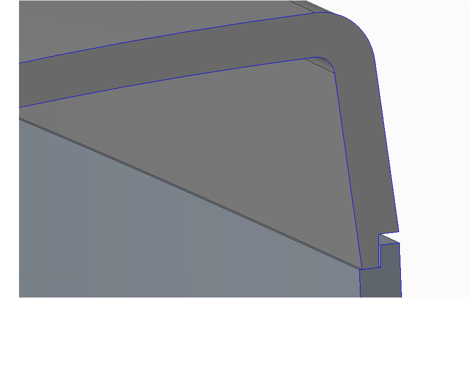 Interlock details of mating components using top down design