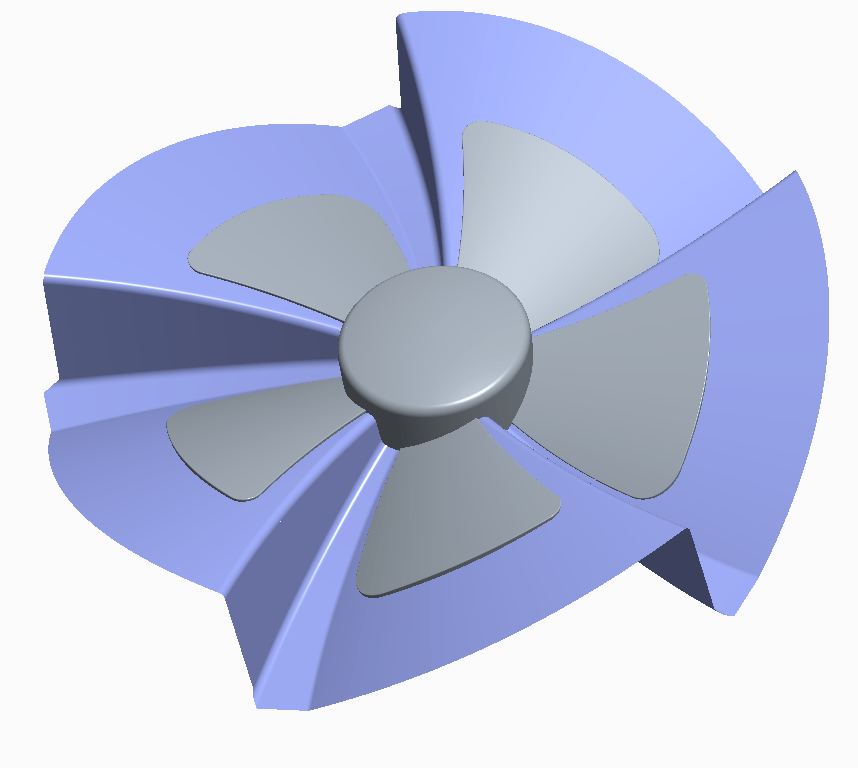 parting surface axial fan